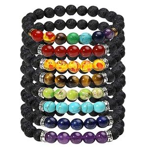 Jewelry - 8 Pcs 7Chakra Energy Bracelets with Reiki Healing